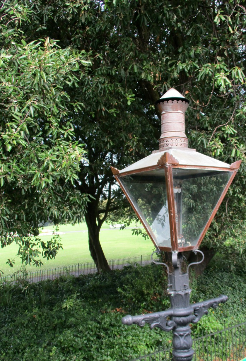Cast iron gas lamp in Phoenix Park